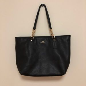 Coach Pebbled Leather Tote Bag
